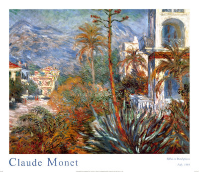 Villas at Bordighera, Italy Art by Claude Monet