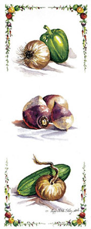 Peppers and Onions Posters by Peggy Thatch Sibley