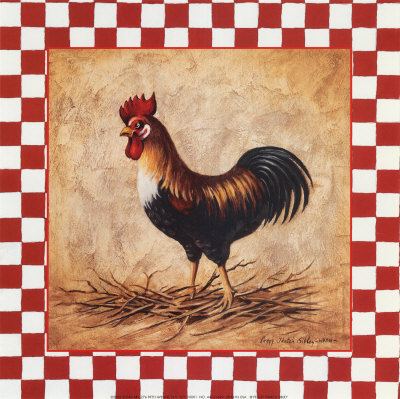 Country Rooster Prints by Peggy Thatch Sibley