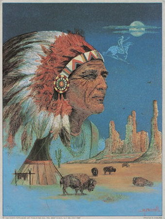 Indian Chief Posters by M. Caroselli