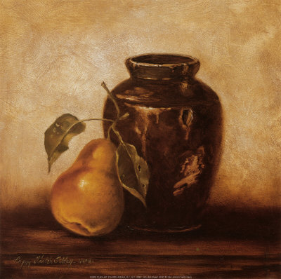 Crock with Pears Poster by Peggy Thatch Sibley