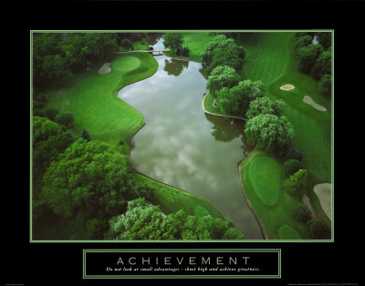 Achievement: Golf Course Art Print