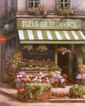 Fleurs de Provence Art by T. C. Chiu
