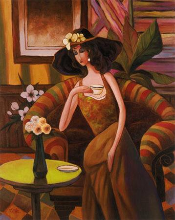 Tea Time, Right Panel Prints by T. C. Chiu