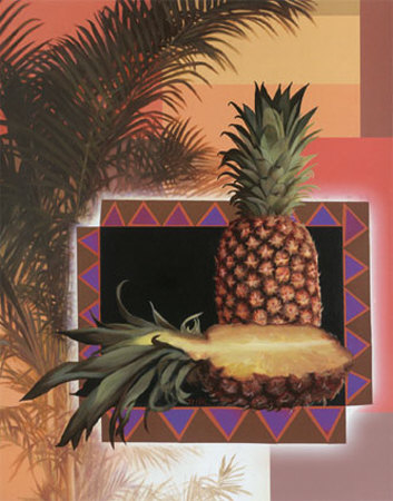 Pineapple Palm Posters by T. C. Chiu