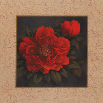 Red Carnation with Border I Posters by T. C. Chiu