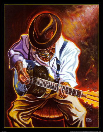 Strummin' Blues Kunsttryk