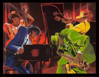 Jazz  on Mood 4 Jazz Art Print