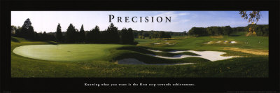 Precision: Golf Art Print