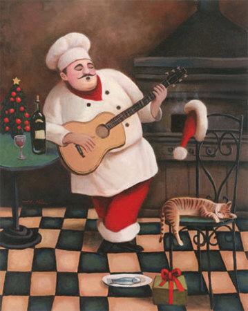 Christmas Chef I Art by T. C. Chiu