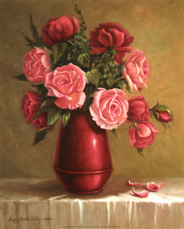 Red Vase I Prints by Peggy Thatch Sibley