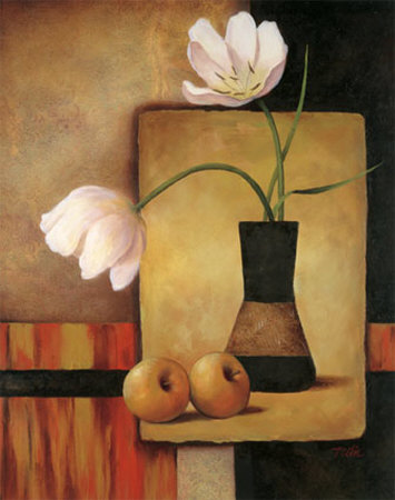 Tulips and Apples Print by T. C. Chiu