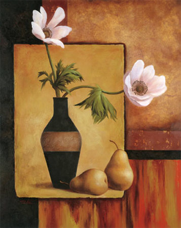 Poppies and Pears Art by T. C. Chiu