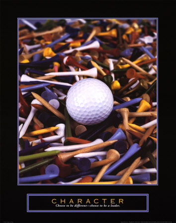 Character: Golf Tees Print by Bruce Curtis