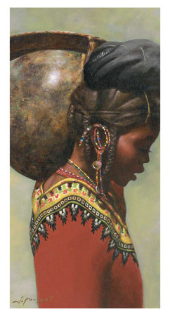 African IV Posters by Joaquin Moragues