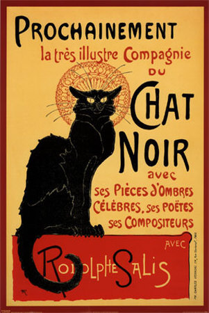 Den sorte kats rundrejse, Tournee du Chat Noir, ca. 1896, på fransk Plakat