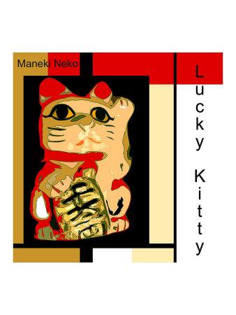 Maneki Neko the Lucky Kitty Giclee Print by  erichan