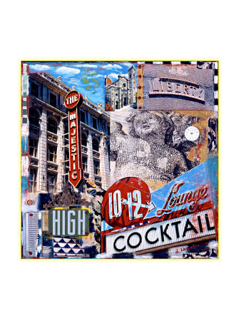 The Majestic High Cocktail Giclee Print by Dave Newman