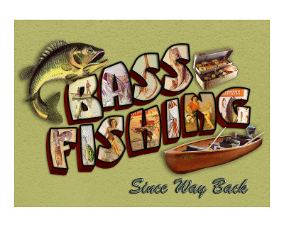 Bass Fishing Giclee Print by Kate Ward Thacker