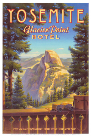 Yosemite, Glacier Point Hotel Reproduction d'art