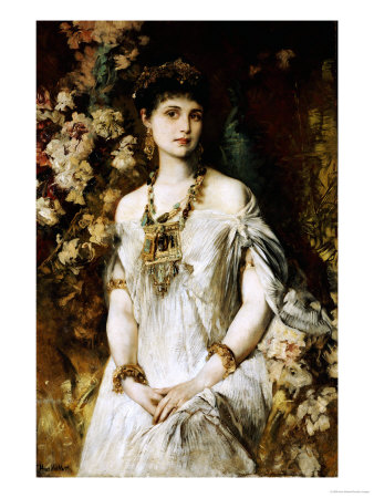 Woman in In Egyptian Costume Premium Giclee Print by Hans Makart