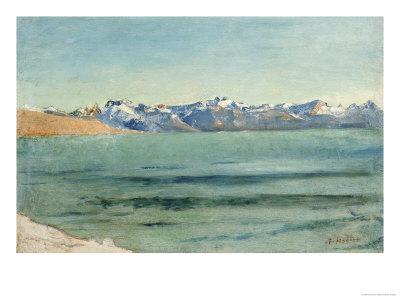 Sunrise over Mont Blanc Gicléetryck av Ferdinand Hodler