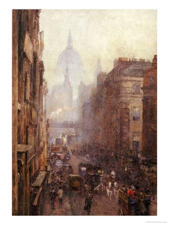 Fleet Street Giclee Print by Rose Maynard Barton