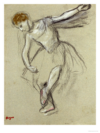 A Dancer Seen in Profile Premium Giclee Print by Edgar Degas