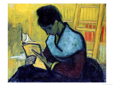 A Novel Reader Giclée-tryk