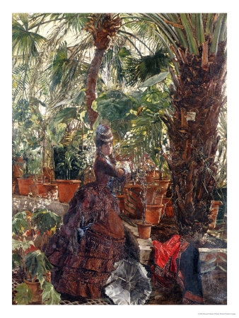 In the Conservatory Premium Giclee Print by Edouard Frederic Wilhelm Richter