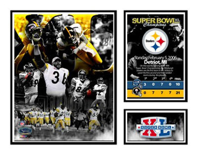 Pittsburgh Steelers - Super Bowl Champs Matted Print