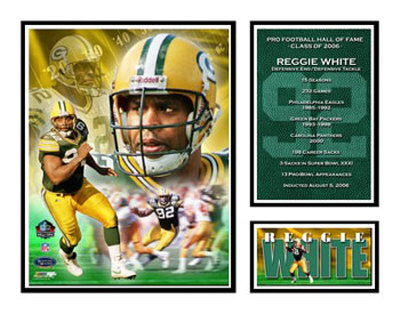 Reggie White - NFL Hall Of Fame Matted Print