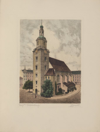 Forst - Nicolaikirche Collectable Print by  Bruck