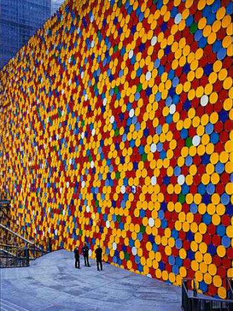 The Wall VI Fotografisk tryk af  Christo