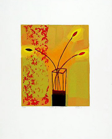 Yellow Glass Vase, 2000 Limited Edition by Russel Baker