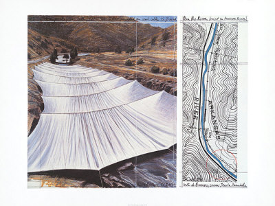 Over the River VII: Above Posters af  Christo