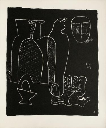 Entre-Deux No. 6 Collectable Print by  Le Corbusier