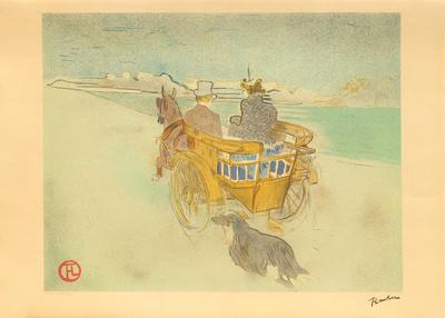 La charette anglaise Samlertryk af Henri de Toulouse-Lautrec