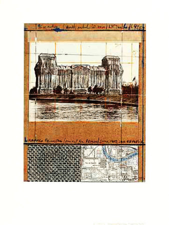 Wrapped Reichstag XII Samlertryk af  Christo