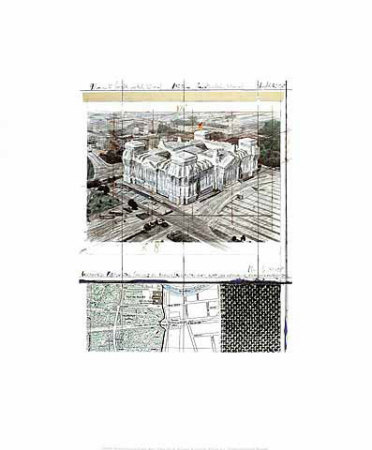 Wrapped Reichstag XIX Print by  Christo