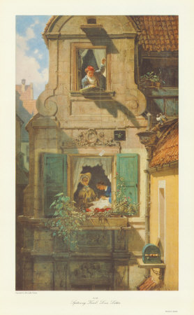 The Love Letter Collectable Print by Carl Spitzweg