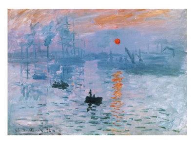 印象、日の出 ポスター : クロード・モネ