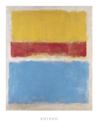 Geel, Rood en Blauw, 1953 Kunst van Mark Rothko