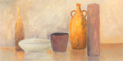 Still Life with Yellow Bottle Posters by Heinz Hock
