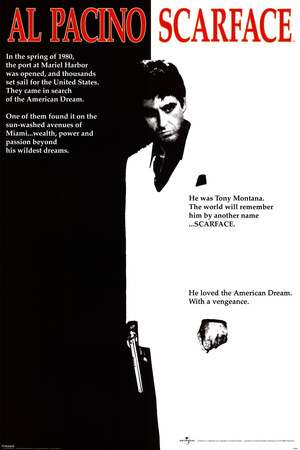 Scarface - Movie One-Sheet Affiche