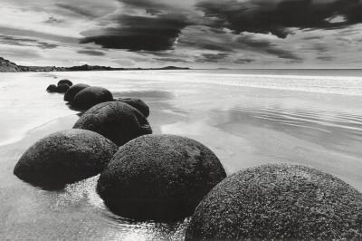 Kameny na pláži Plakát