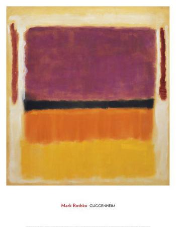 Paars, Zwart, Oranje, Geel op Wit en Rood, 1949 Print van Mark Rothko