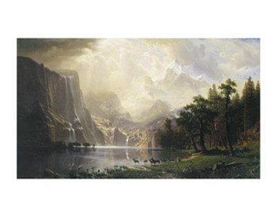 Among the Sierra Nevada, California, 1868 Posters by Albert Bierstadt
