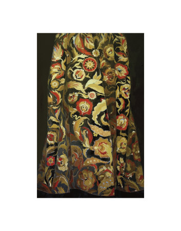 Goldflower Kaftan Art Print