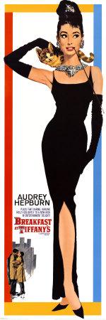 Breakfast At Tiffany's met Audrey Hepburn Poster